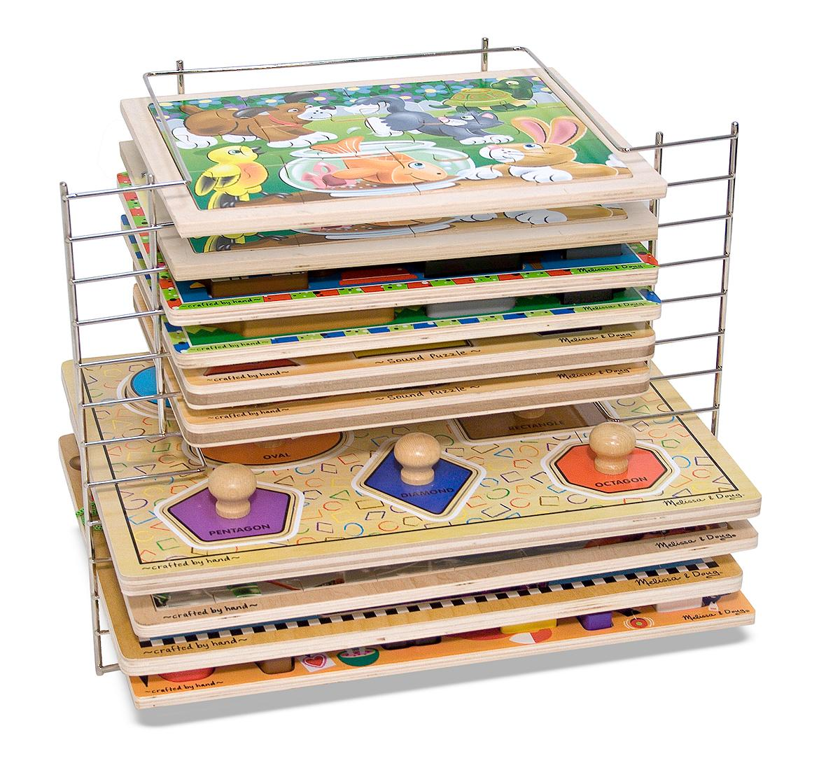 Amazon Com Melissa Amp Doug Deluxe Wire Puzzle Rack
