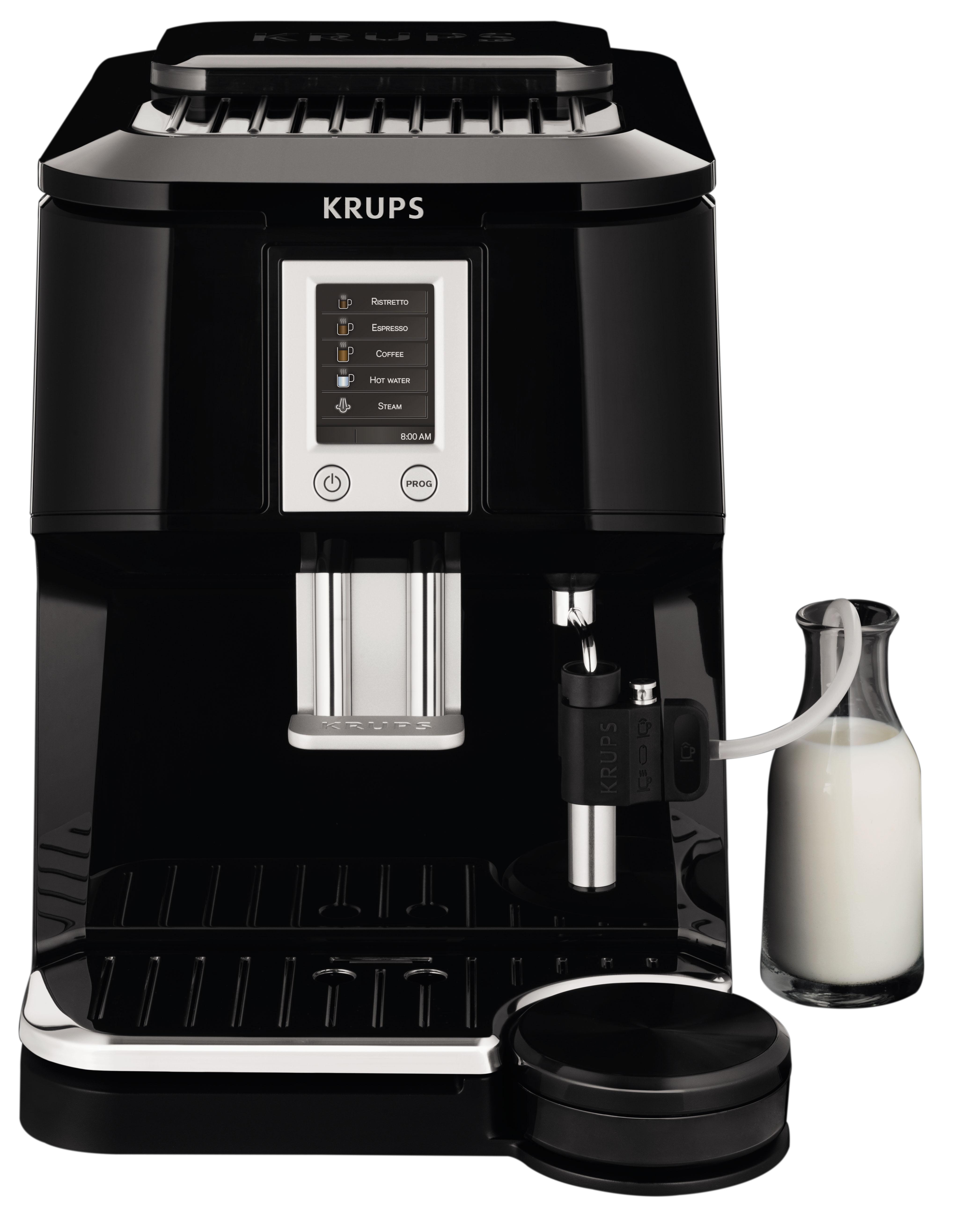 krups ea8442 fully automatic espresso machine from the bean to the cup to a touch of a button. Black Bedroom Furniture Sets. Home Design Ideas