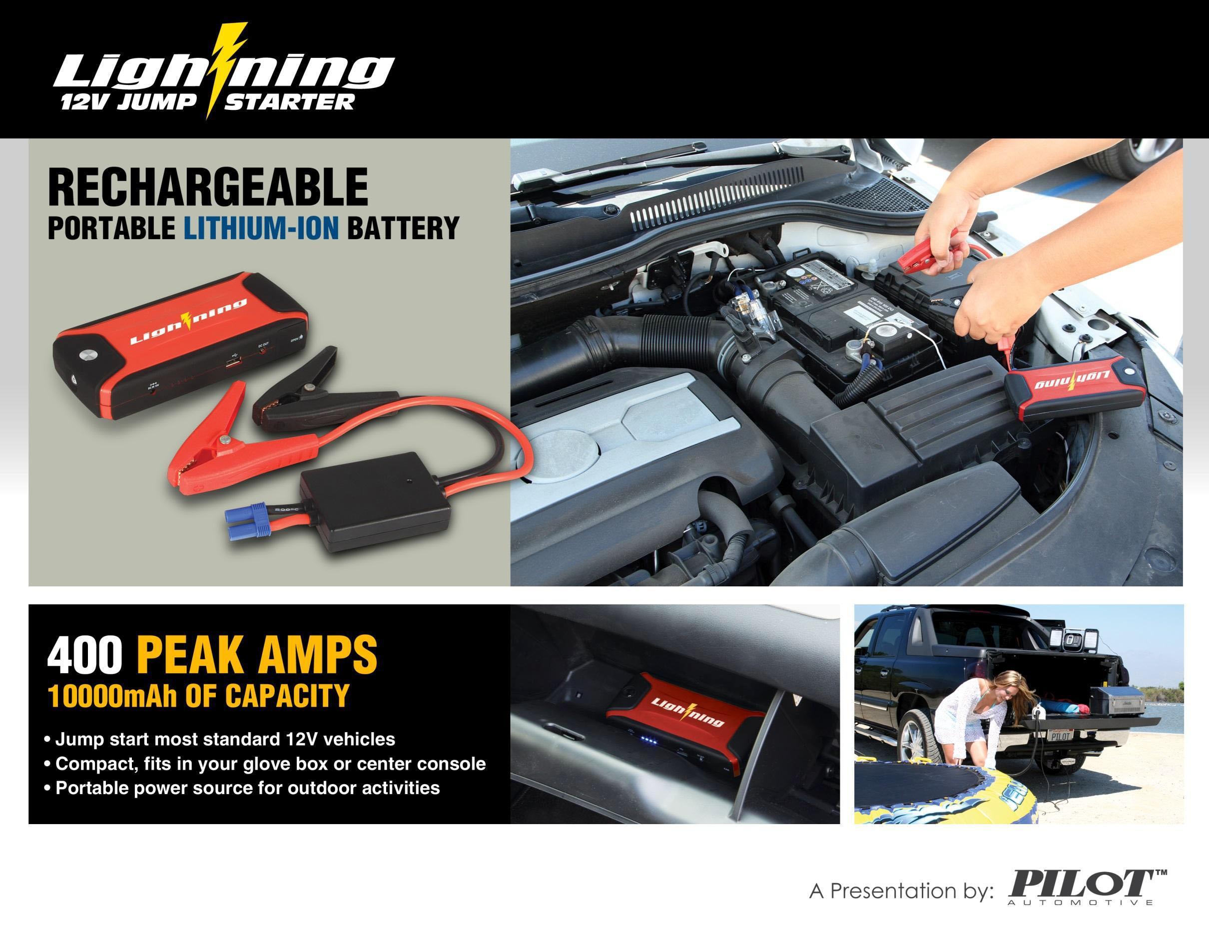 Pilot Automotive Lightning Jump Starter CA-9802 | CA-9802  |Power Source Jump Starter Lightning