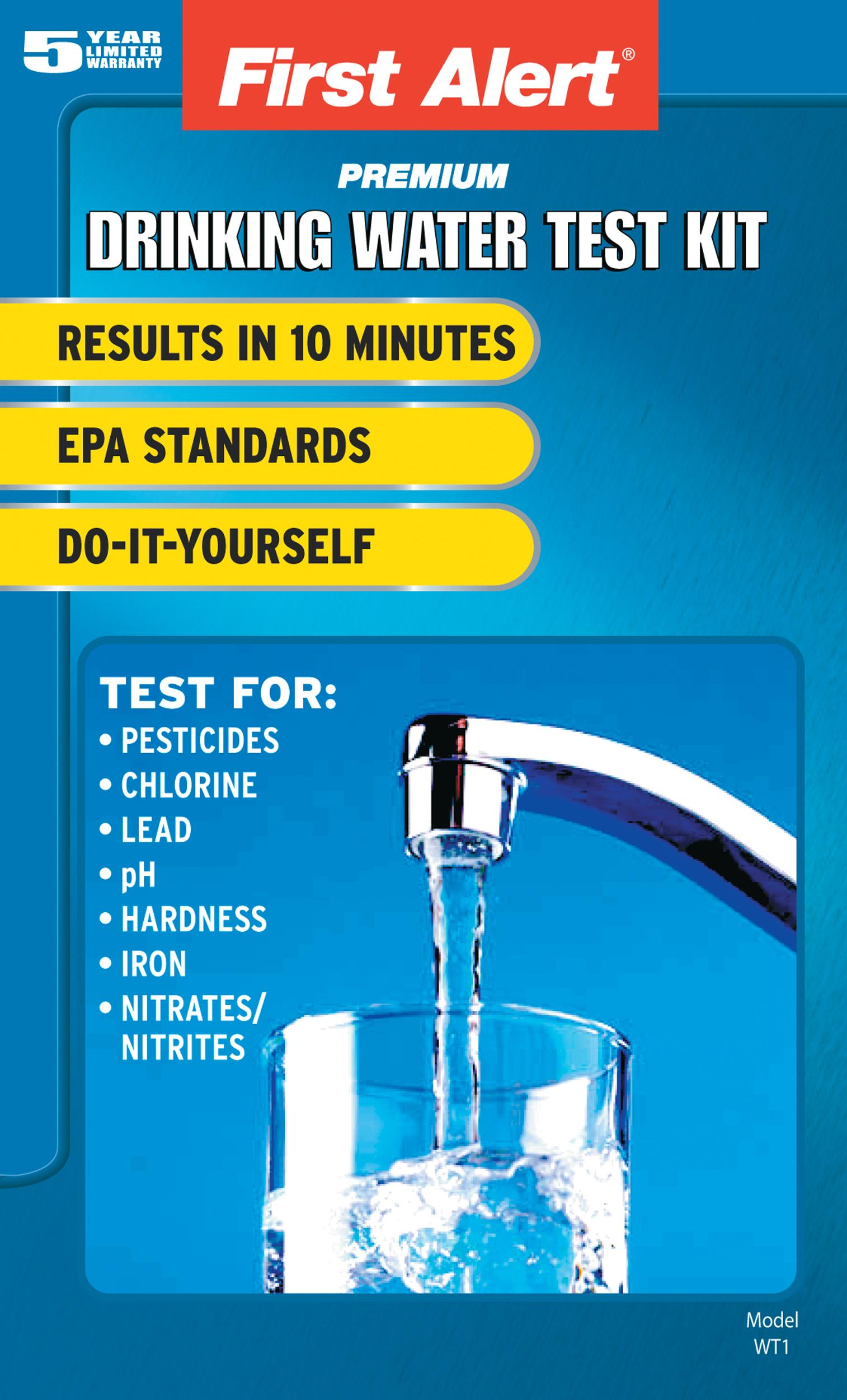 Amazon Com First Alert Wt1 Drinking Water Test Kit Home