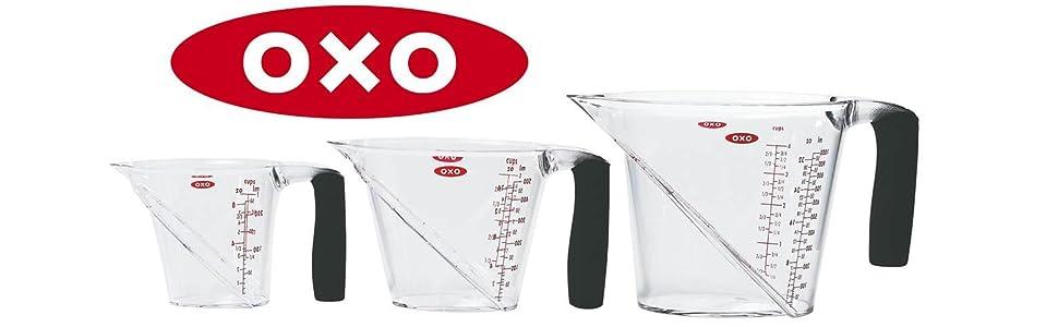 Amazon Com Oxo Good Grips 3 Piece Angled Measuring Cup