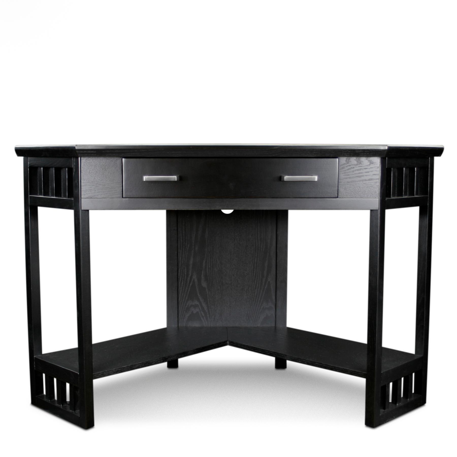 Corner Computer Desk: Amazon.com: Leick Corner Computer And Writing Desk, Black