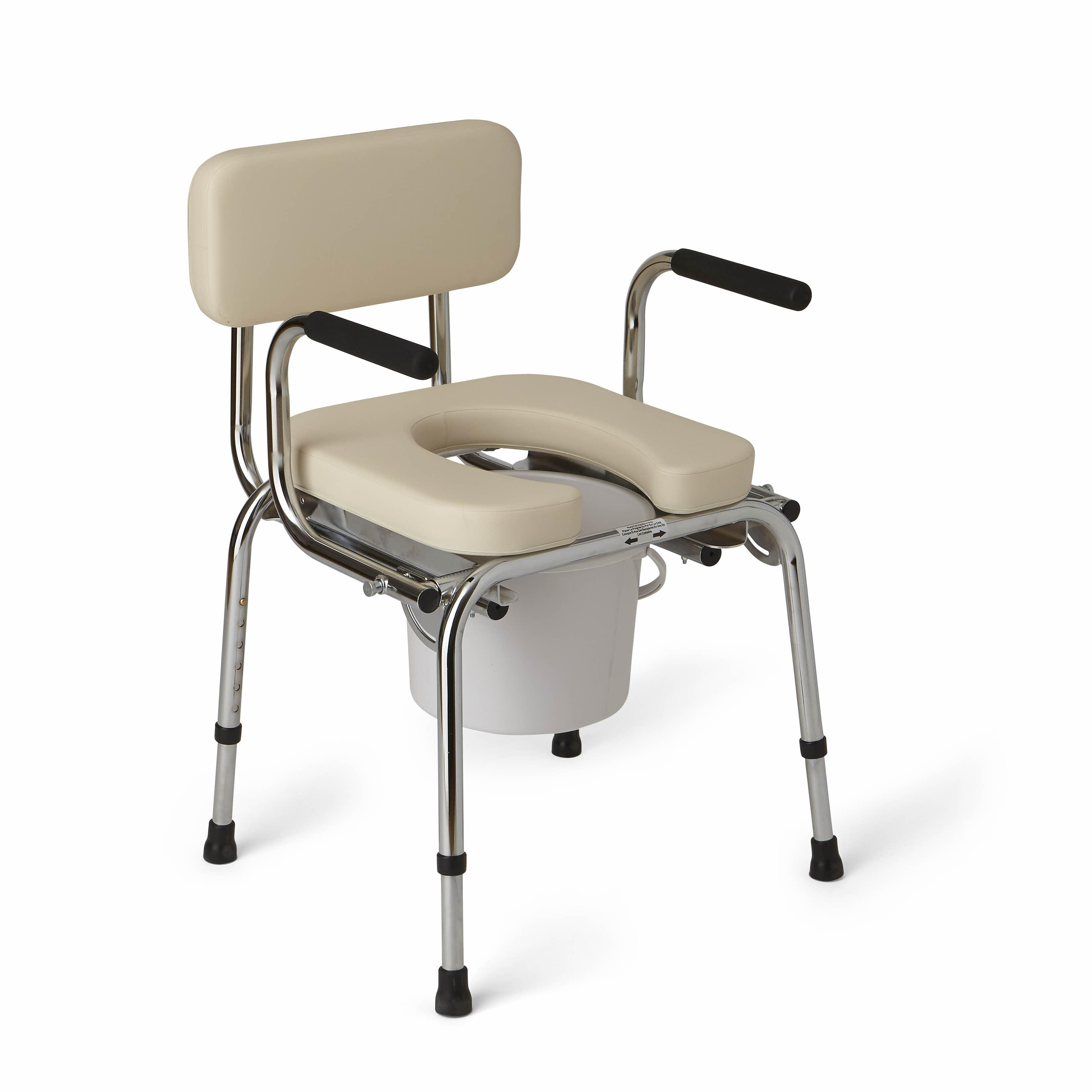 Amazon Com Medline Drop Arm Commode Padded Health