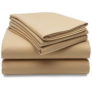 Amazon Com Pinzon Heavyweight Cotton Flannel Sheet Set