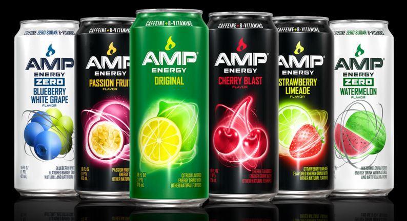 Amazon Com Amp Energy Strawberry Limeade Caffeine B