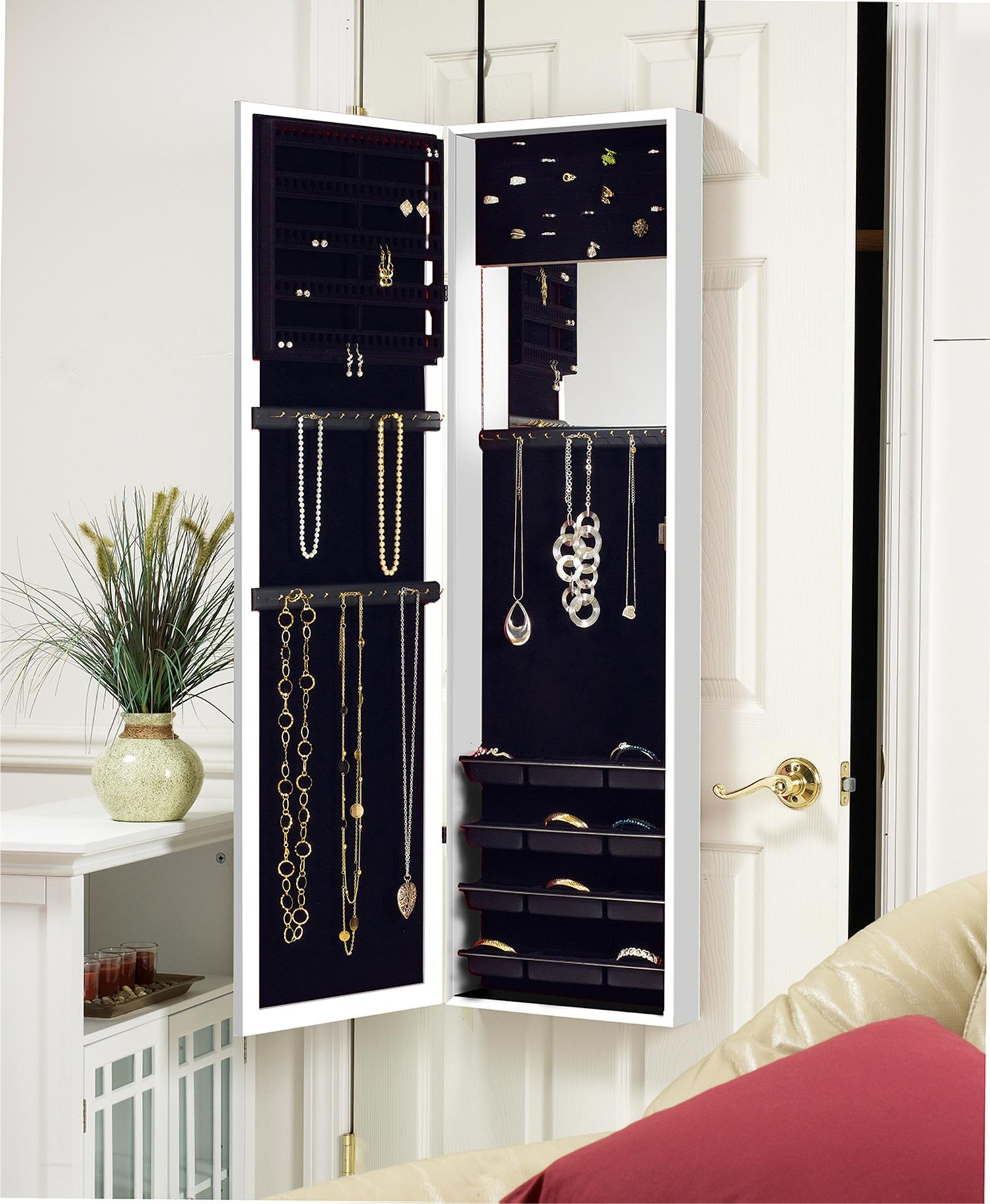 Amazon Com Plaza Astoria Wall Door Mount Jewelry Armoire