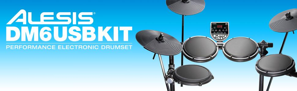 alesis dm6 usb kit five piece compact beginner electronic drum set with 8 snare 8. Black Bedroom Furniture Sets. Home Design Ideas