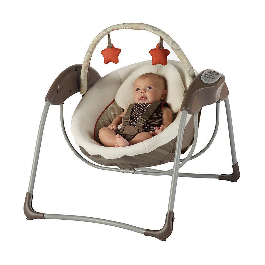 Amazon Com Graco Glider Lite Lx Gliding Swing Zuba Baby