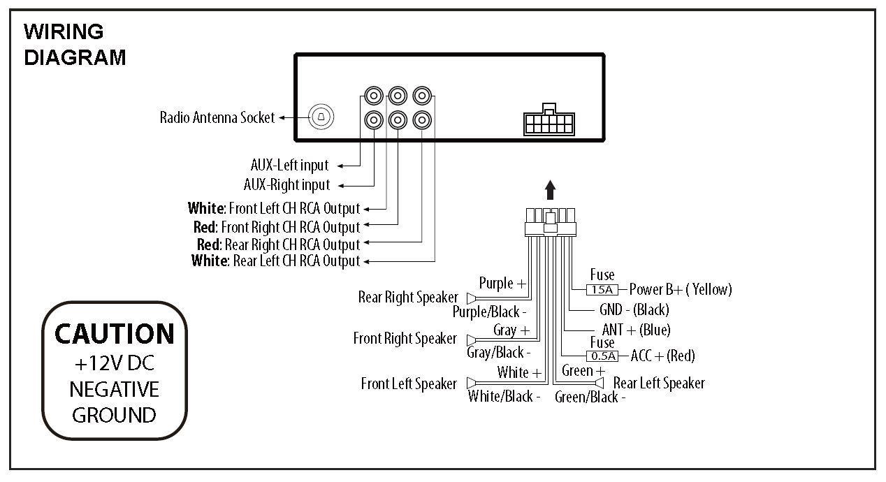 Dual Xd1228 Wiring Harness