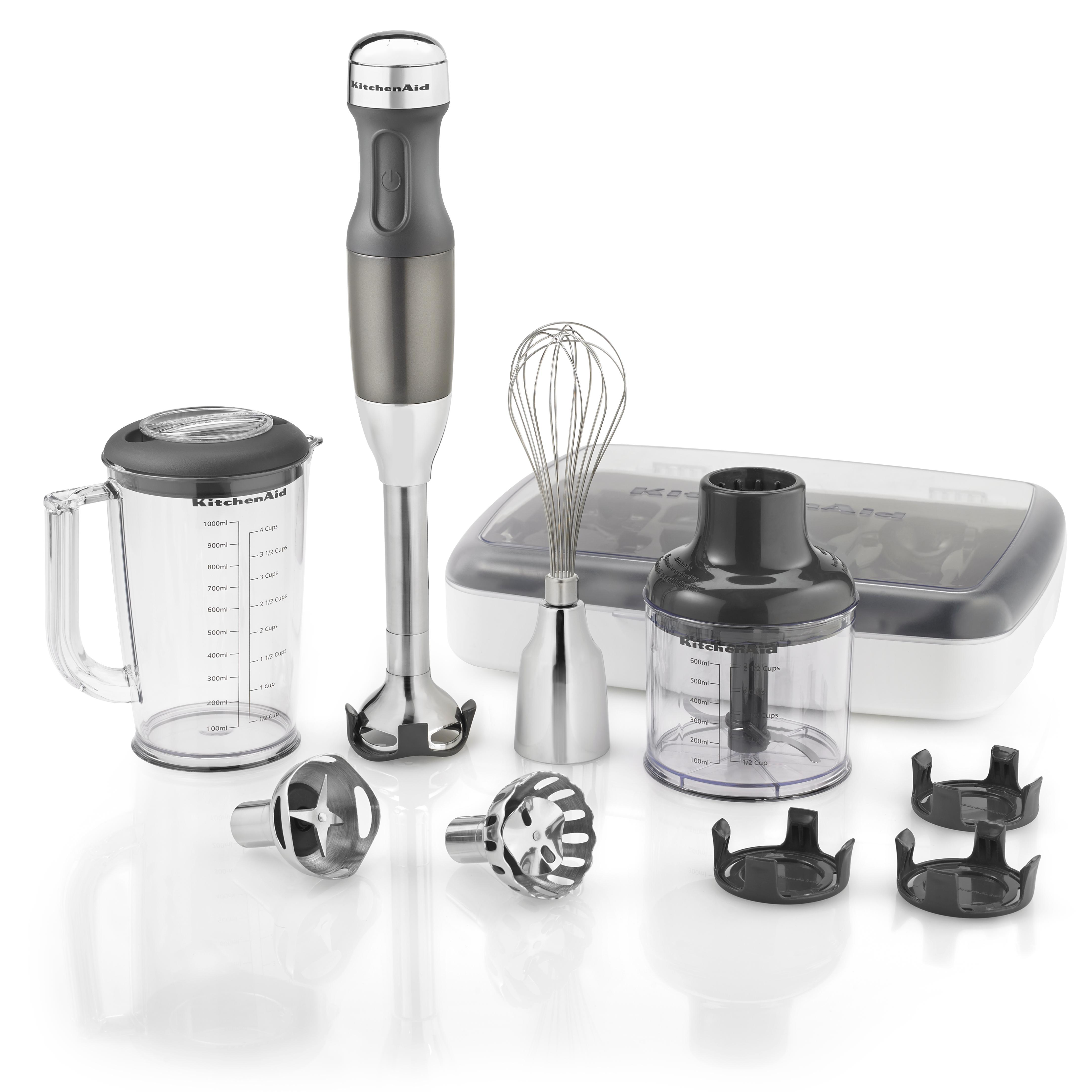 Amazon.com: KitchenAid KHB2561CU 5-Speed Hand Blender - Contour Silver: Electric Hand Blenders ...