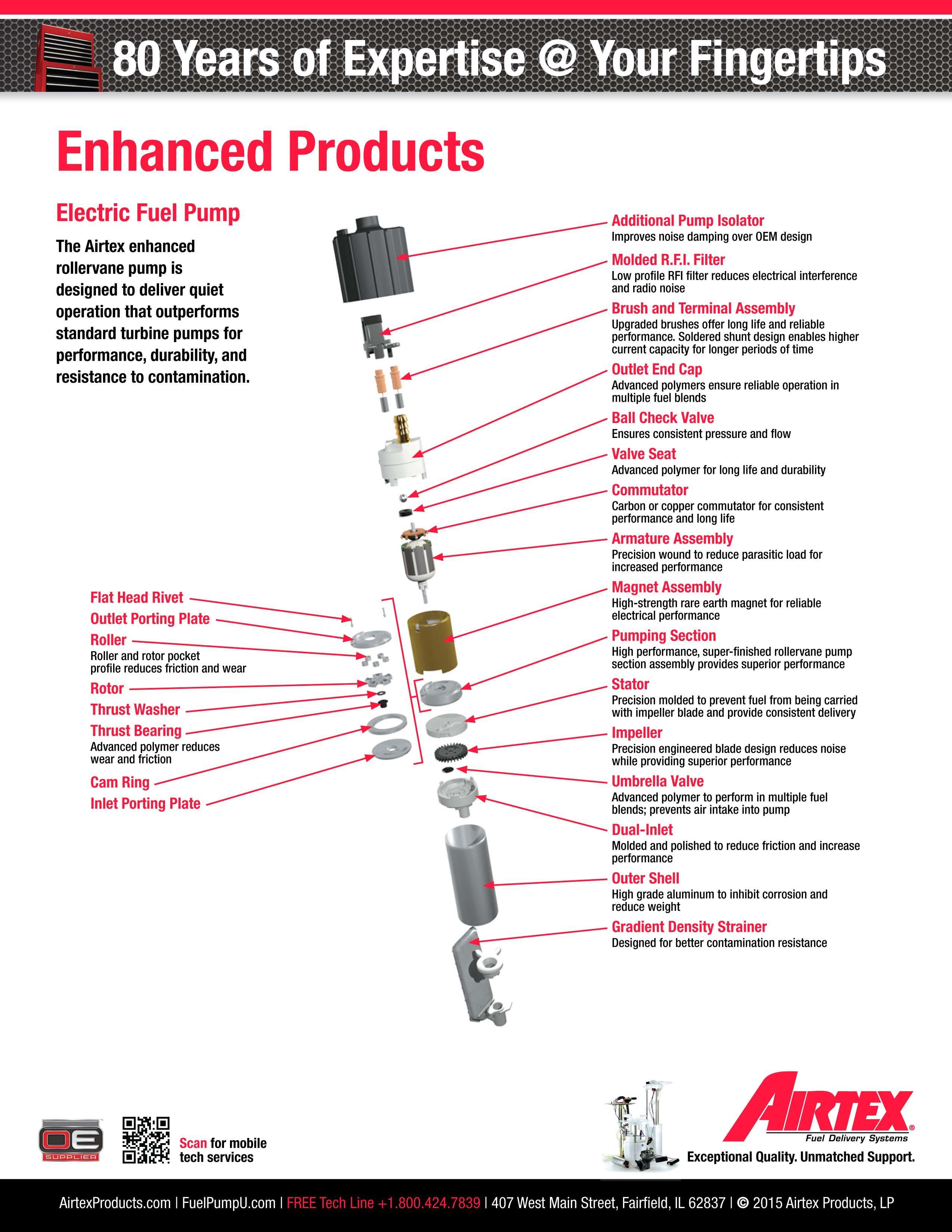 parts airtex electric fuel pump e11010 onan generator rv. Black Bedroom Furniture Sets. Home Design Ideas