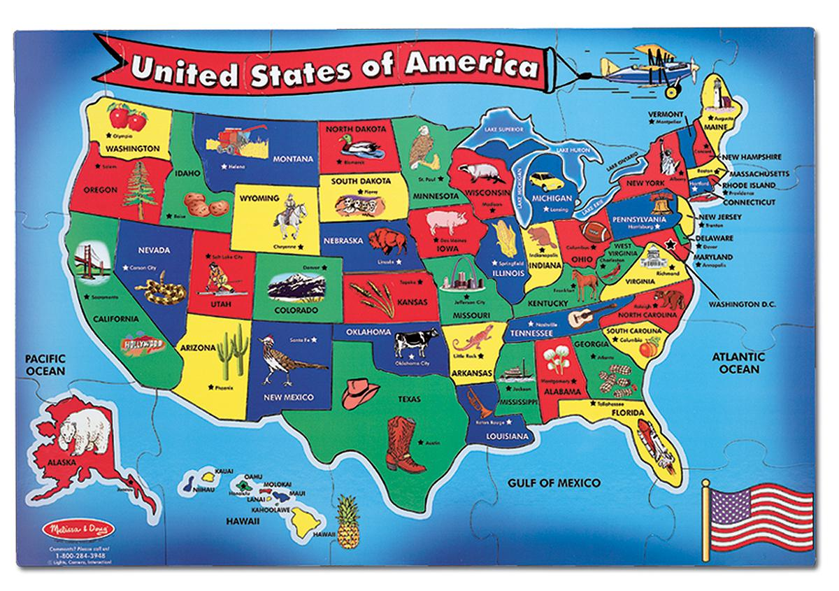 united states map puzzle u.s.states and capitals United States Map Puzzle Us States And Capitals