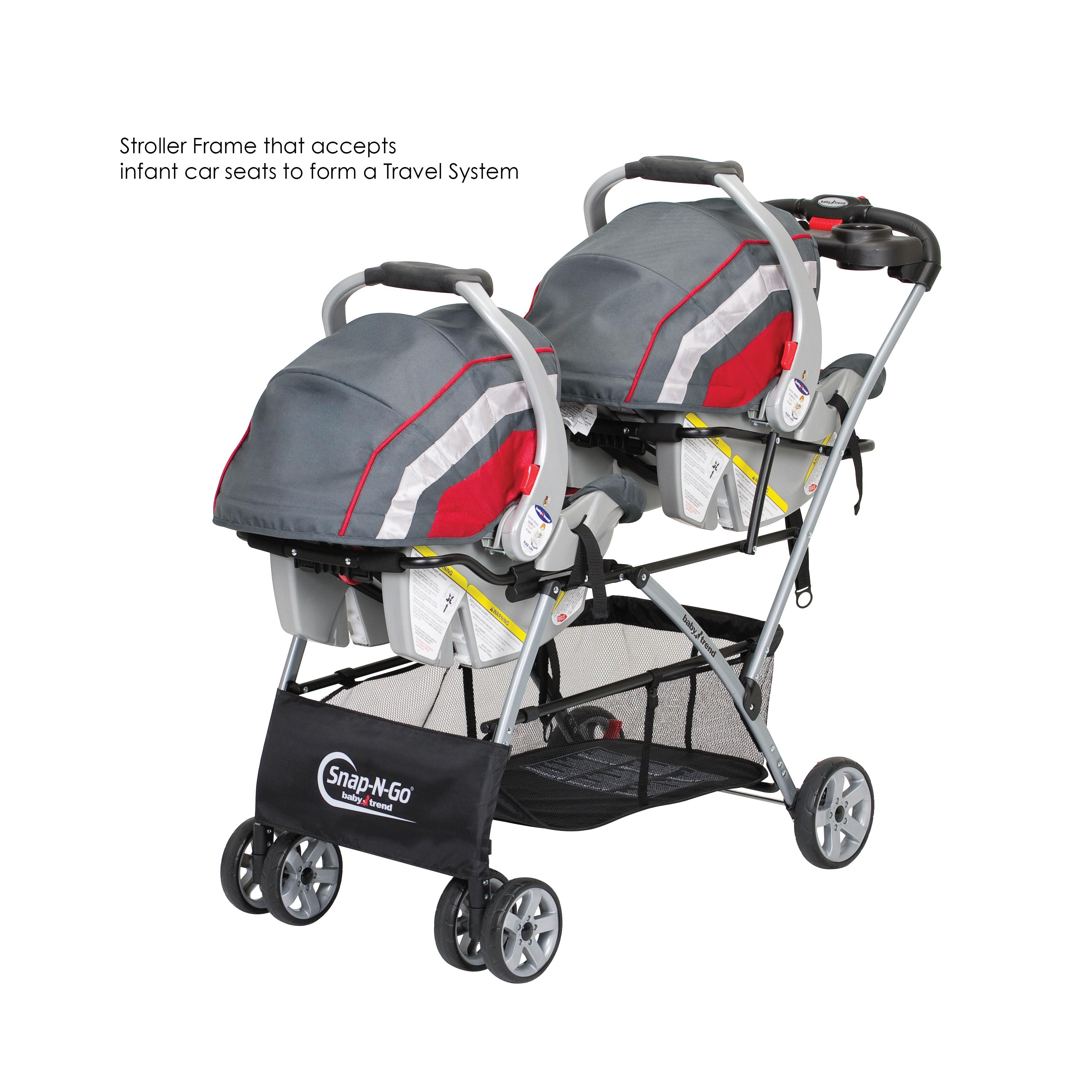 Double Stroller Frame Infant Car Seat Carrier Baby ...