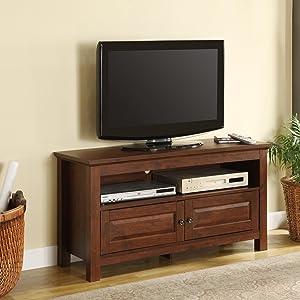 Amazon Com Walker Edison Cortez Wood Tv Console Black