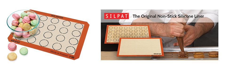 Amazon Com Silpat Ae420295 22 Macaron Mat Baking Sheets