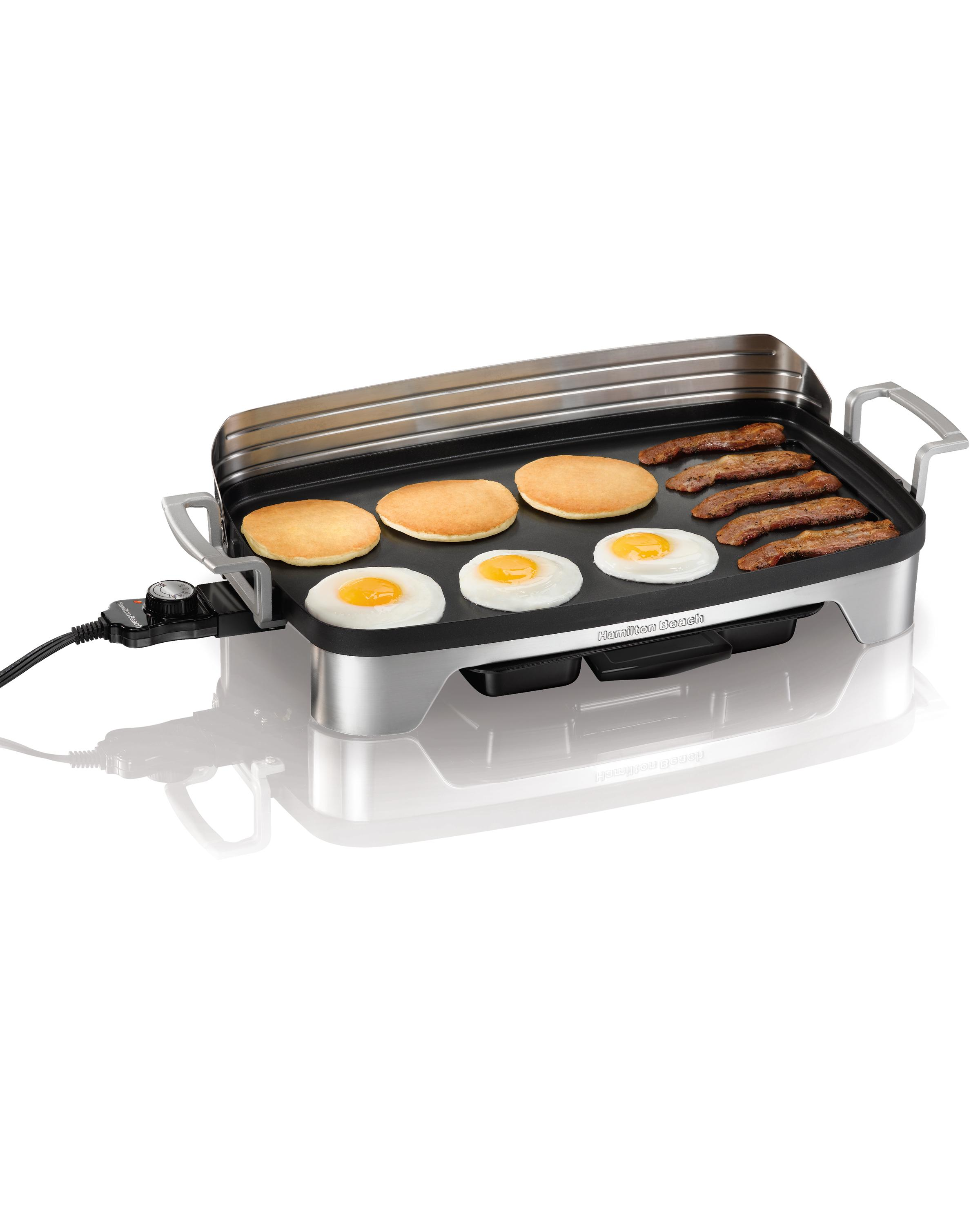 Large Electric Griddle Grill Non Stick Cookware Food ...