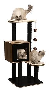 Amazon Com Vesper Cat Furniture Walnut V Base Pet