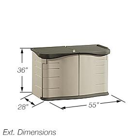Amazon Com Rubbermaid 3753 Split Lid Deck Storage Shed