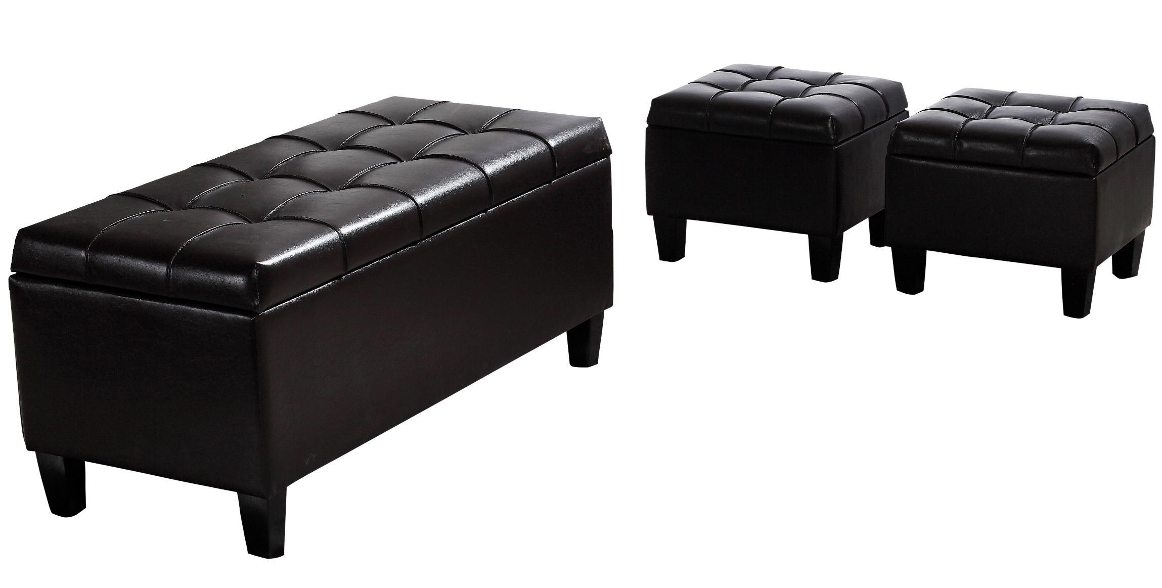 Amazon Com Simpli Home Dover 3 Piece Pu Leather