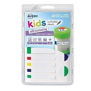 Kids Self-Laminating Labels