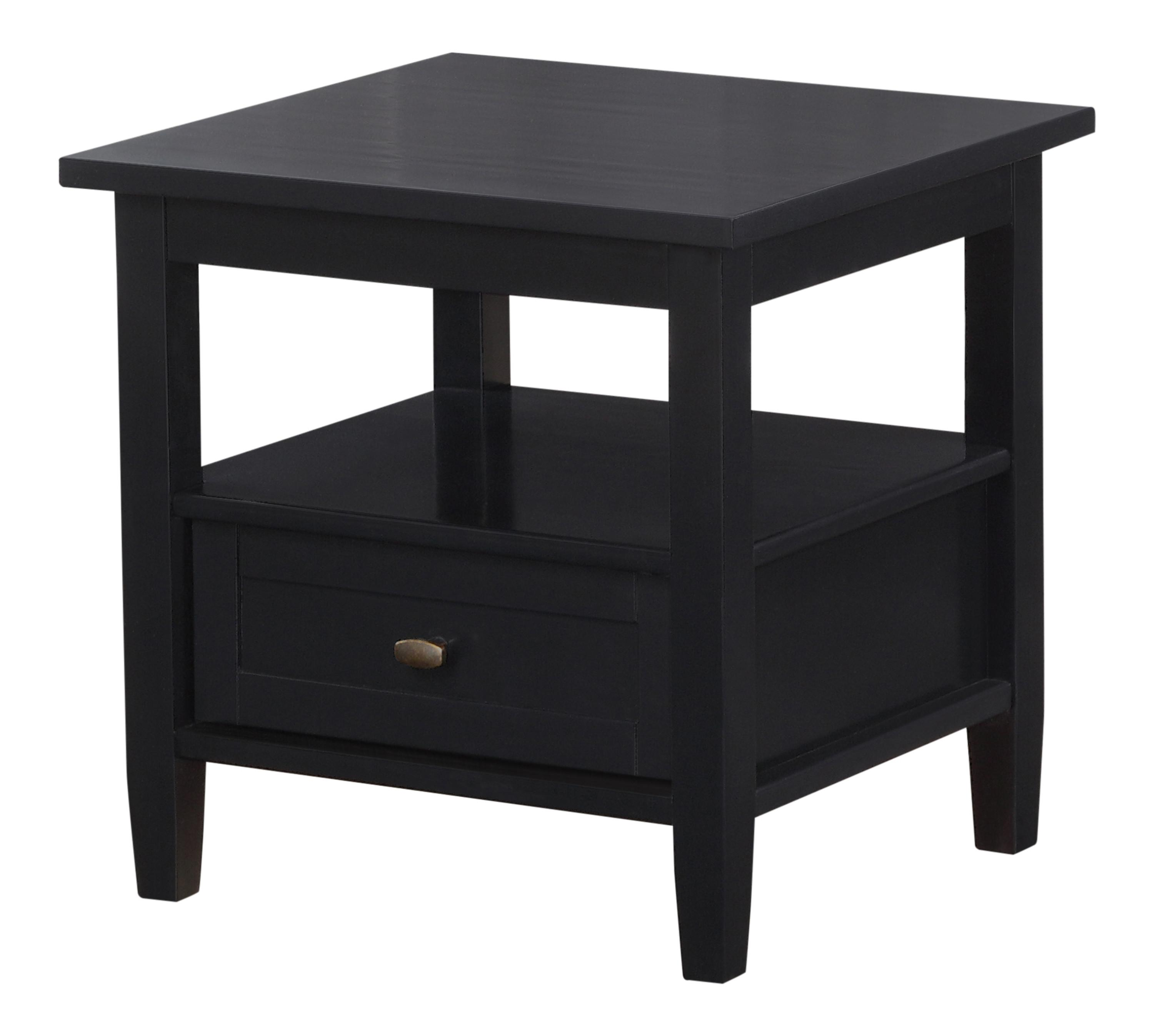 Kitchen Side Table: Amazon.com: Simpli Home Warm Shaker End Table, Black