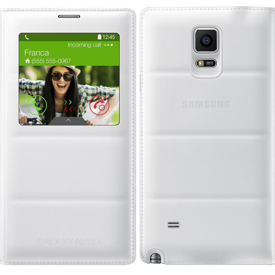 hot sales c51d3 1df17 Samsung Galaxy Note 4 Case, S View Flip Cover Folio Case - White