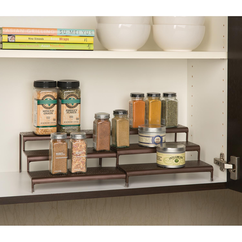 Amazon Com Seville Classics 3 Tier Expandable Spice Rack
