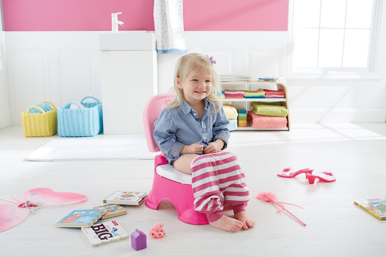 Amazon Com Fisher Price Stepstool Potty Pink Princess