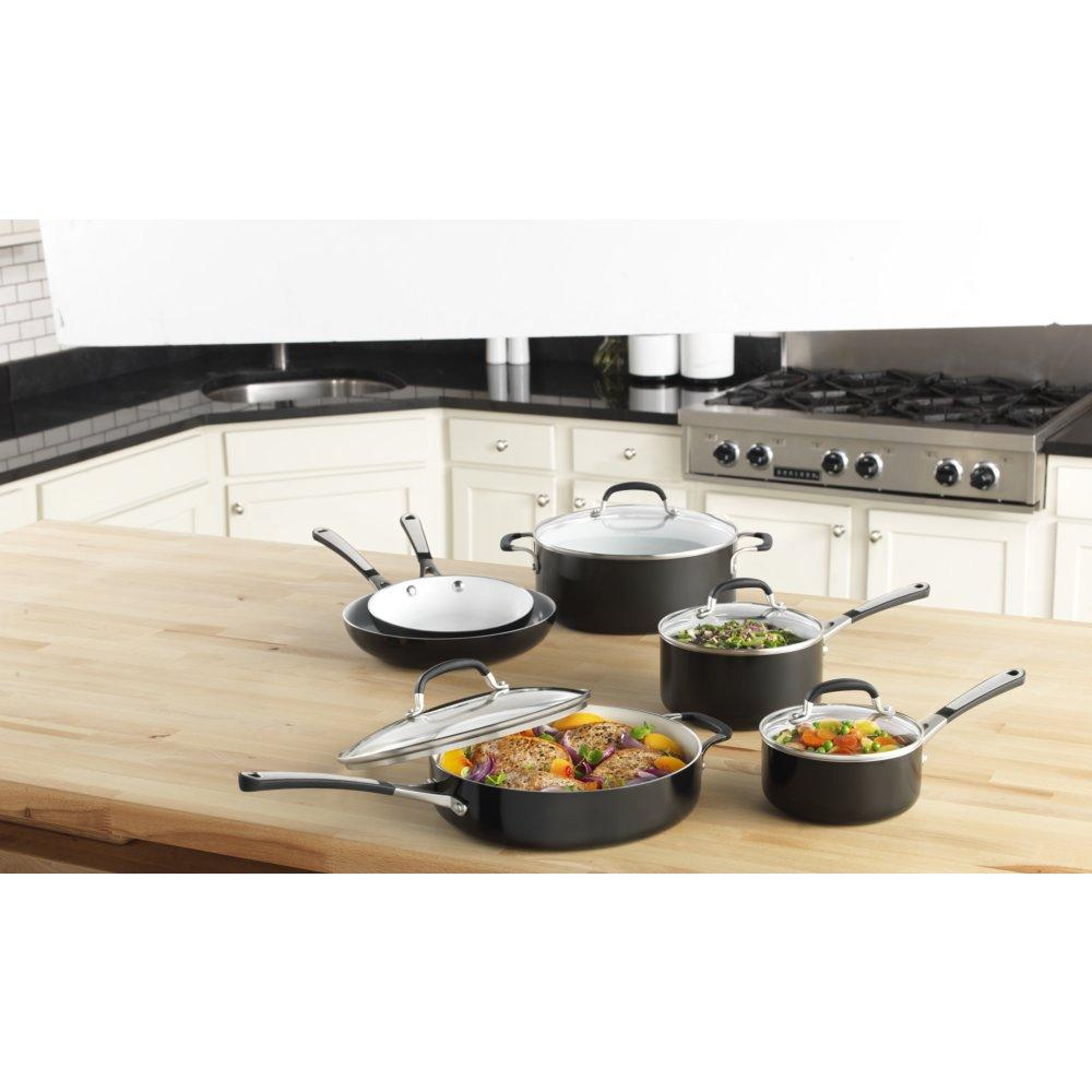Amazon Com Simply Calphalon Ceramic Nonstick 11 Piece