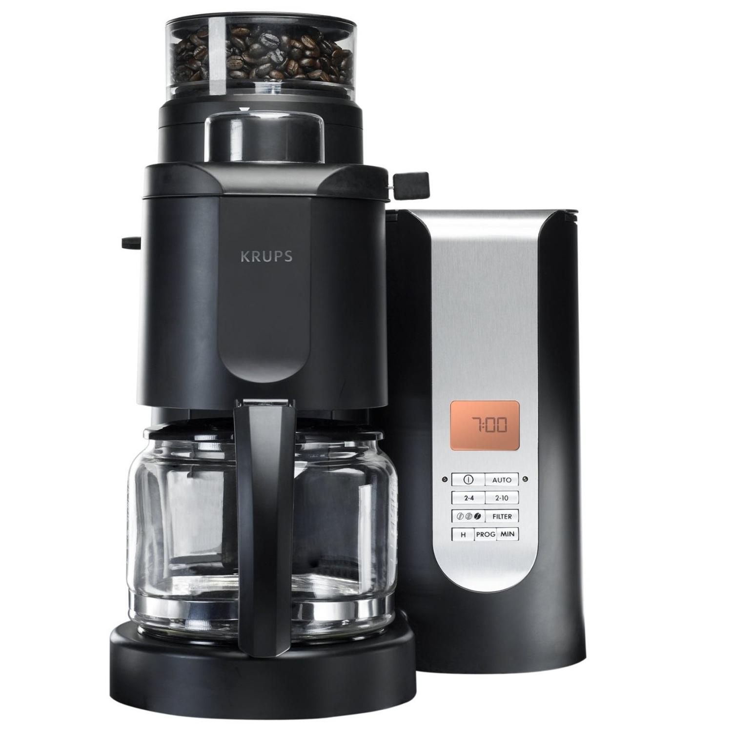 Automatic Grind And Brew Coffee Maker Amazon.com: KRUPS KM7005 Grind and Brew Coffee Maker with ...