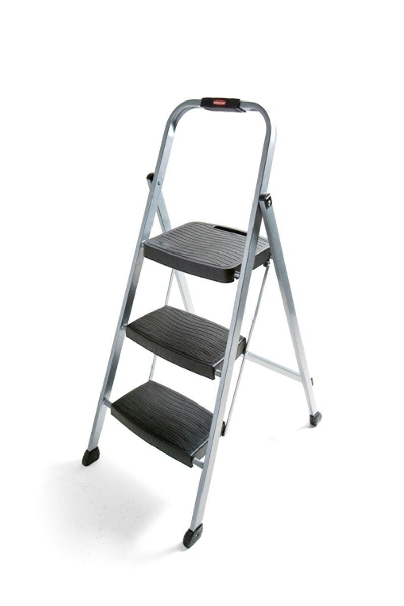 Rubbermaid Rm 3w Folding 3 Step Steel Frame Stool With