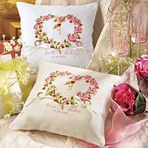 Wedding Rings Pictures free crossstitch wedding ring pillow