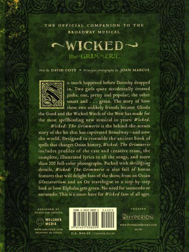 Wicked: The Grimmerie, a Behind-the-Scenes Look at the Hit