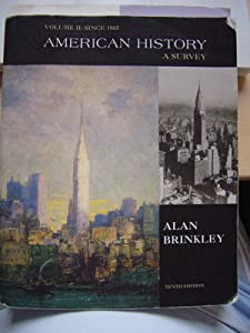 Alan brinkley american history a survey 12th edition online book