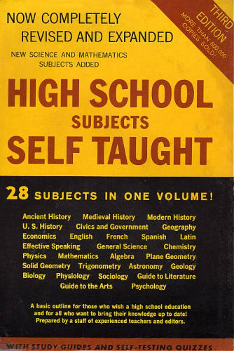 Subjects taught at school
