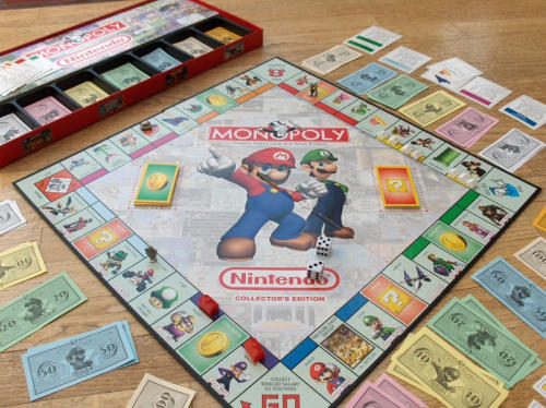 Monopoly Nintendo Special Collectors Edition board game laid out