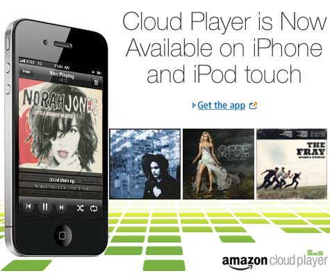 Cloud Player is now available on iPhone and iPod touch