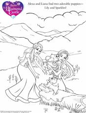 Barbie diamond castle colouring pages for Barbie and the diamond castle coloring pages