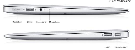 macbook air 11 ports