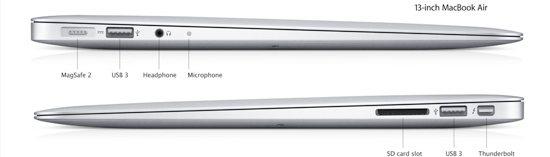 macbook air 13 ports