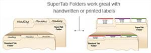 Supertab folder work great with handwritten or printed labels for Smead label templates