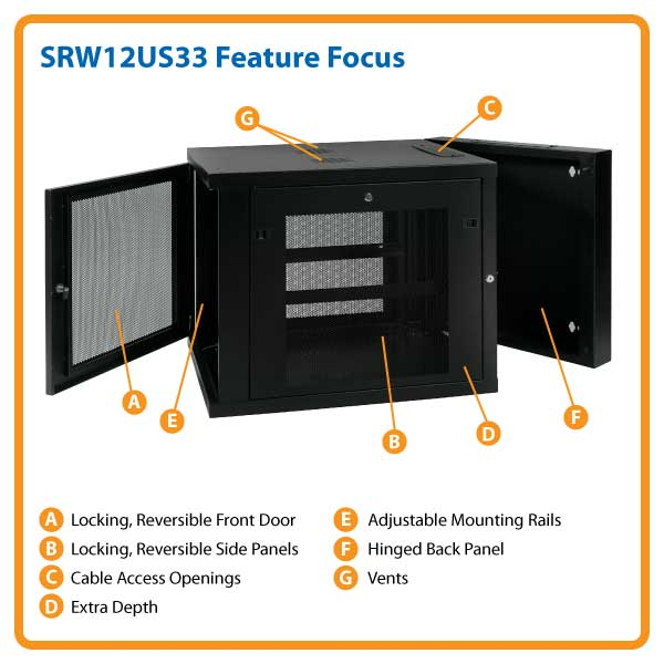 Amazon Com Tripp Lite Srw12us33 12u Wall Mount Rack
