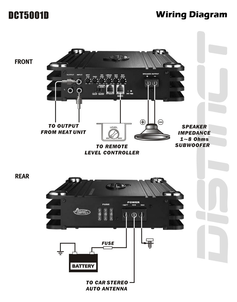 mono car amp wiring diagram mono sub amp wiring diagram