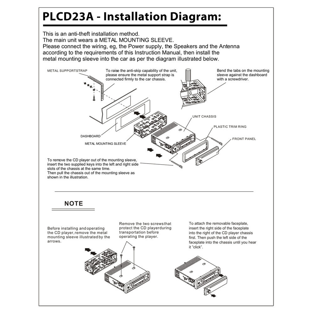 honda vision wiring diagram amazon.com : pyle plcd23a am/fm-mpx manual tune radio cd ... xo vision wiring diagram