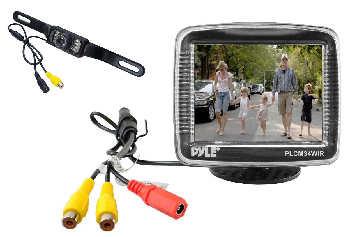 pyle plcm34wir 3 5 inch monitor wireless back. Black Bedroom Furniture Sets. Home Design Ideas