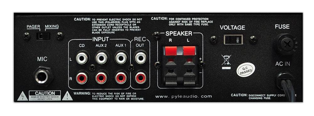 Amazon.com: Pyle Home PTA4 Mini 2x120 Watt Stereo Power