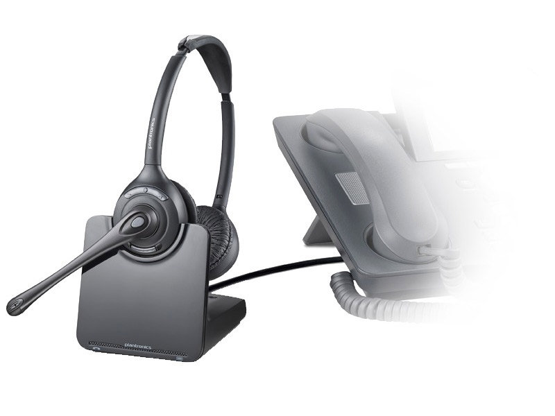 Amazon Com Plantronics Cs520 Binaural Wireless Headset