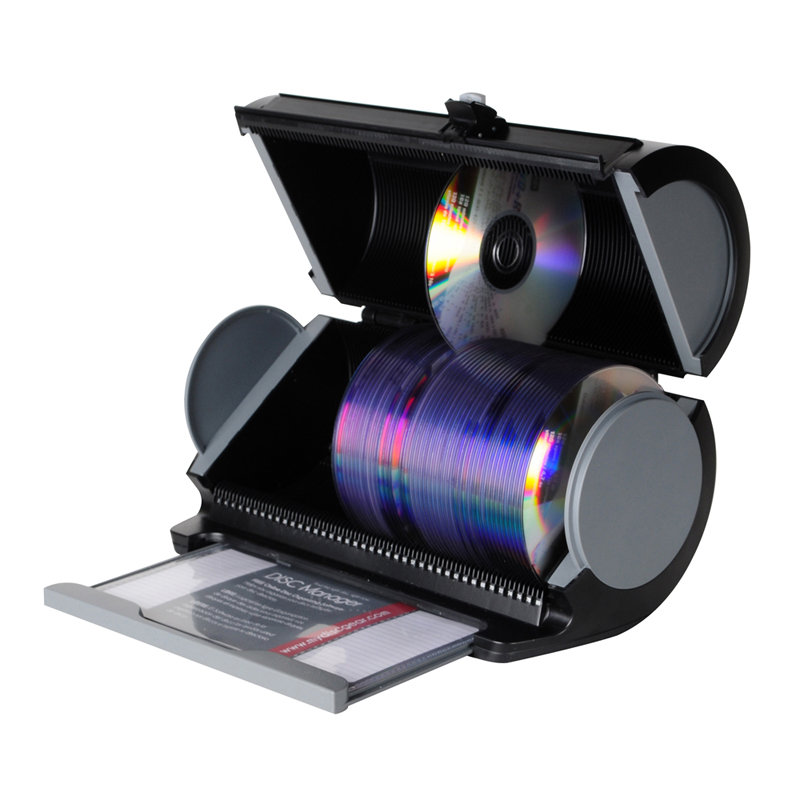 Portable 80 Disc Manager Storage Bluray CD DVD Holder Media Cases Black Sleeves | eBay