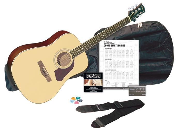 silvertone sd3000 acoustic guitar pack gosale price comparison results. Black Bedroom Furniture Sets. Home Design Ideas
