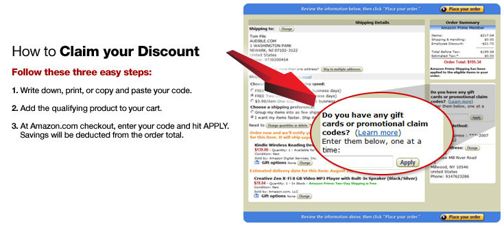 Discount coupons for amazon.com